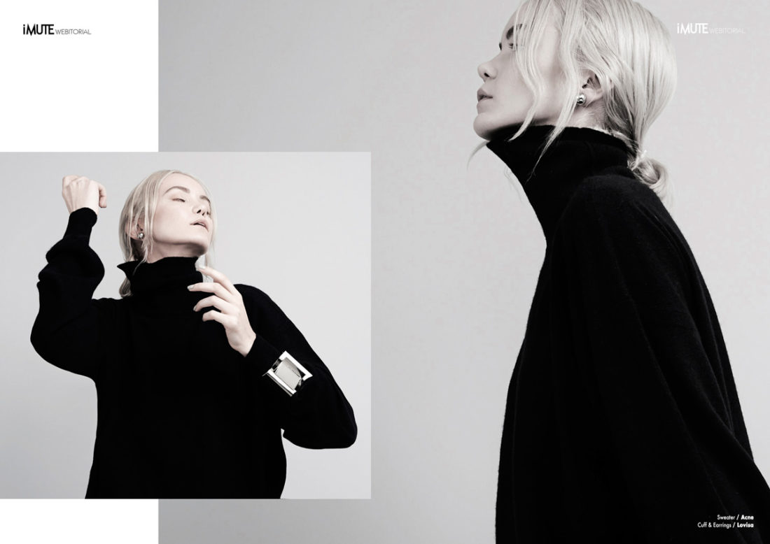 Minimal webitorial for iMute Magazine