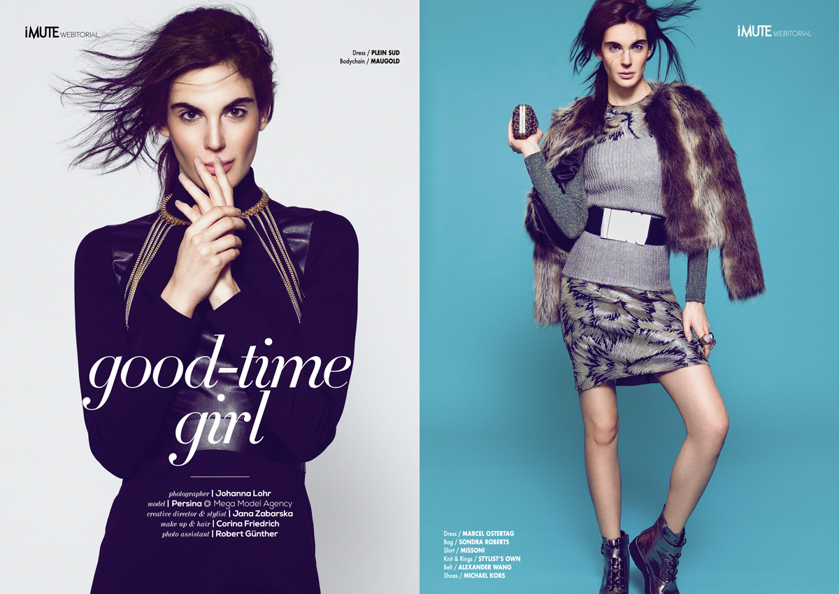 good-time girl webitorial for iMute Magazine