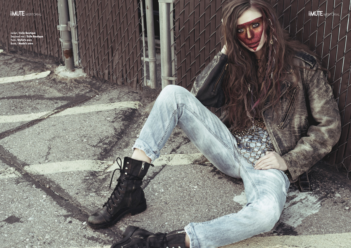 Glitter Grunge webitorial for iMute Magazine Photographer / Raen Badua Model / Stacey Duncan & Ellen Magliulo @ TNG Models Stylist / Giovanna Gaba Make up & Hair / Zee Clemente Dreads Clip-ons / Hippie Stop Shop