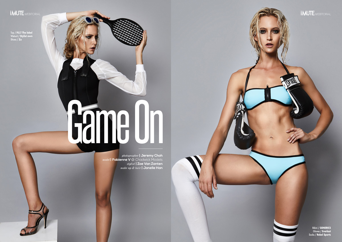 Game On webitorial for iMute Magazine Photographer / Jeremy Choh Model / Fabienne V @ Chadwick Models Stylist / Zoe Van Zanten Make up & Hair / Janelle Han