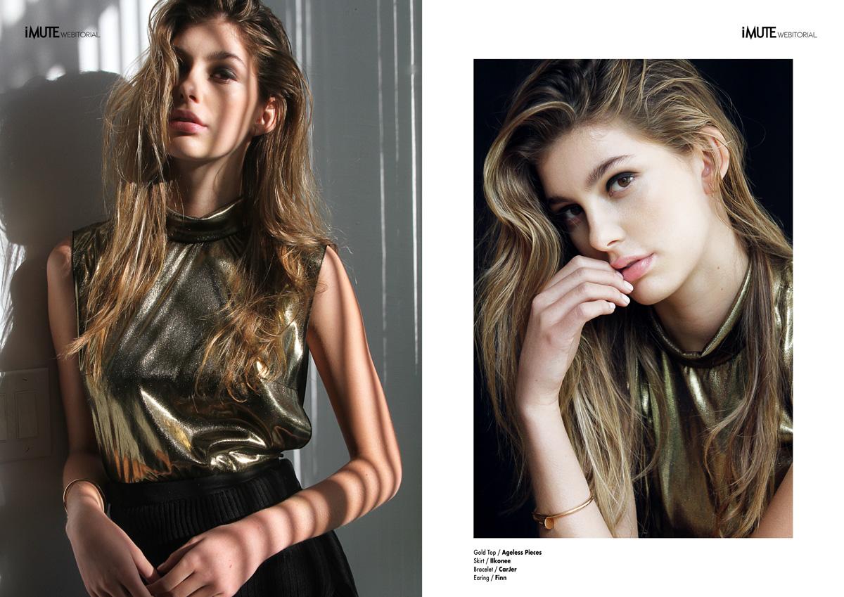 Golden Girl webitorial for iMute Magazine Photographer / Anna Tabakova Model / Camila Morrone @ IMG NY Stylist / Angel Macias Make up & Hair / Salazar Norah