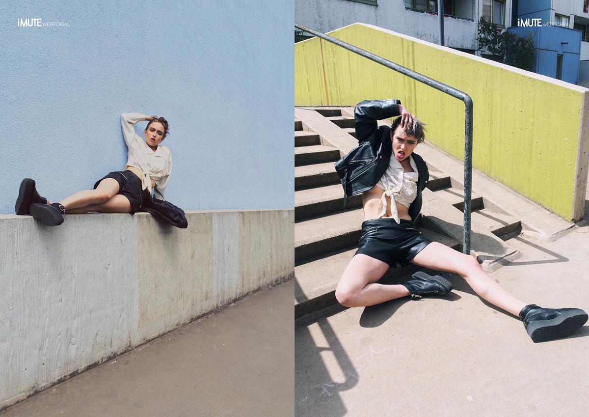Berlin Urbanism webitorial for iMute Magazine Photographer / Konaction Model / Caro Cult Stylist / Saskia Jung @ Vintageparrot Make up & Hair / Natalia Vermeer
