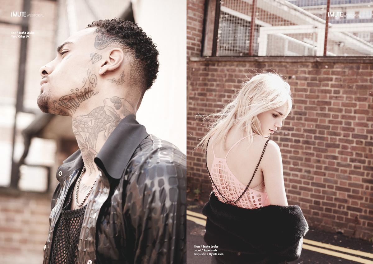 Laticifer webitorial for iMute Magazine Photographer / Andre Titcombe Models / Ariel @ Leni's & Joshua @ AMCK Stylist / Gabriella Stival Make up & Hair / Lou Stefani Designer / Sasha Louise
