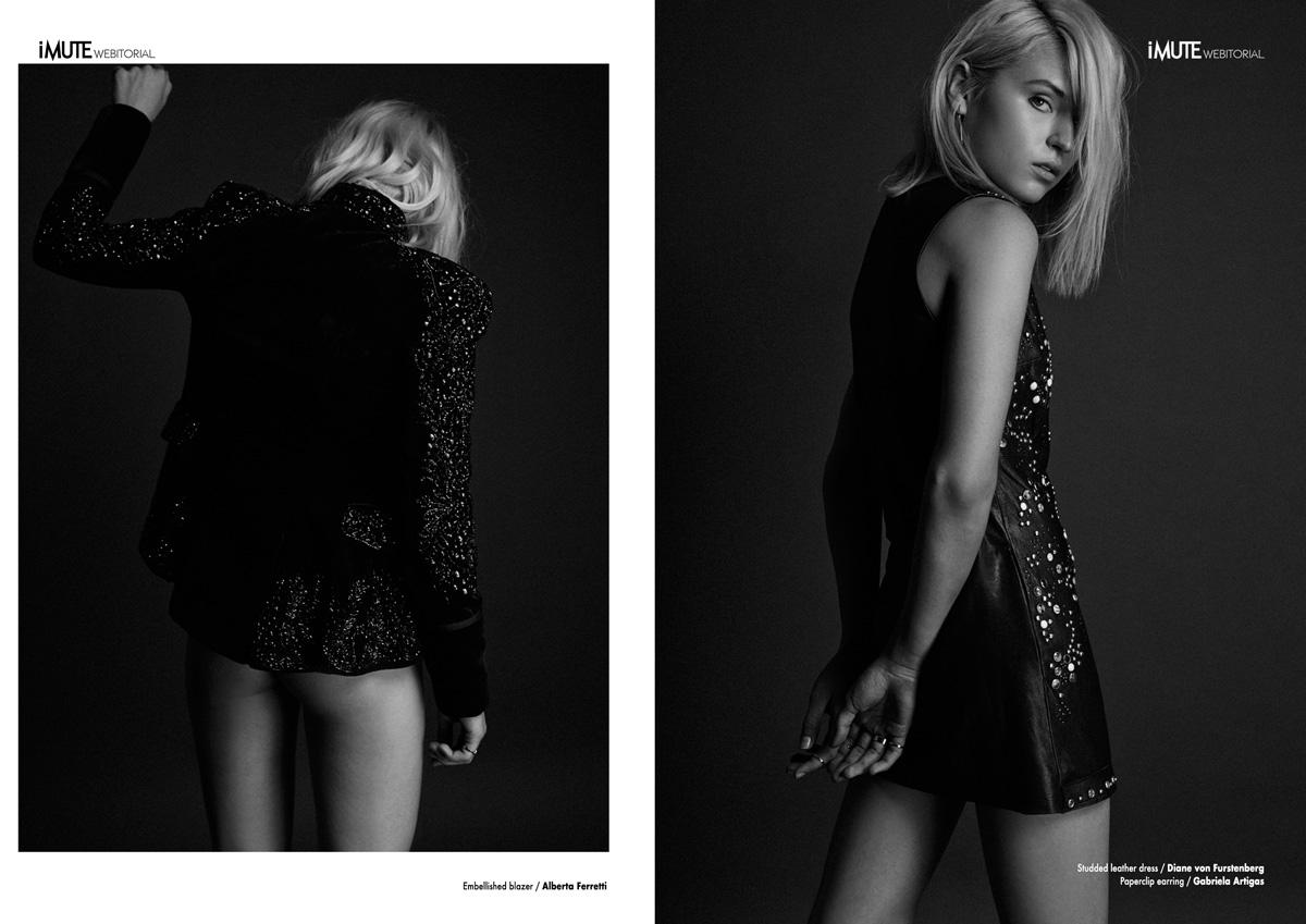 Rima webitorial for iMute Magazine Photographer / Trever Hoehne Model & Stylist / Rima Vaidila @ Next Management