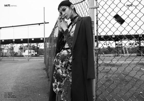 these dark days webitorial for iMute Magazine Photographer / Ellin Anderegg Model / Bella @ Elite Model Agency NYC Stylist / Jonatan Mejia Make up & Hair / Fabienne Pauli