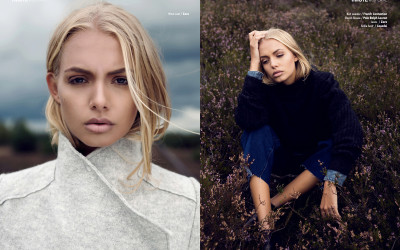 Heather fields webitorial for iMute Magazine Photographer / Nicole Franke Model / Bella Oelmann @ Iconic Management Make up & Hair / Katja Maaßen