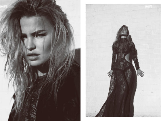 Leather & Lace webitorial for iMute Magazine Photographer / Heidi Edwards Model / Jennifer Akerman @ Wilhelmina Stylist / Justin Lynn Make up & Hair / Gabby Moreno Designer / B*& S Studio