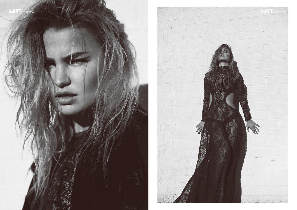 Leather & Lace webitorial for iMute Magazine Photographer / Heidi Edwards Model / Jennifer Akerman @ Wilhelmina Stylist / Justin Lynn Make up & Hair / Gabby Moreno Designer / B*& S Studio