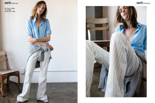 CLEAN SLATE webitorial for iMute Magazine Photographer / Mike Carreiro Model / Ema McKie @ Vision Models LA Stylist / Jesse Arifien Make up / Nicola Hamilton Hair / Geri Fletcher