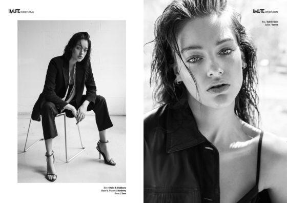 Dripping Rose webitorial for iMute Magazine Photographer / Alvaro Gracia Model / Lucette Van Beek @ Elite Milan Stylist / Gisela Cid