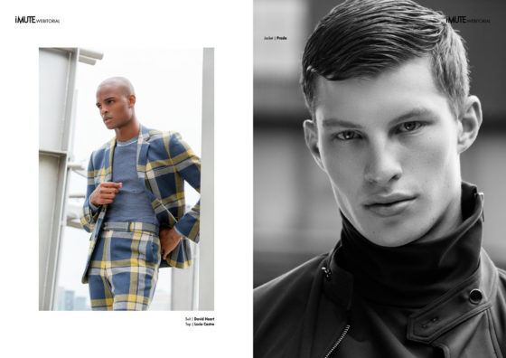 NEW YORK STATE OF MIND webitorial for iMute Magazine Photographer / Marc Tousignant Models / Isaiah @ Wilhelmina NYC & Jordan @ Soul NYC Stylist / Mike Stallings Make up / Shawn Lumaban Hair / Franklyn Berry