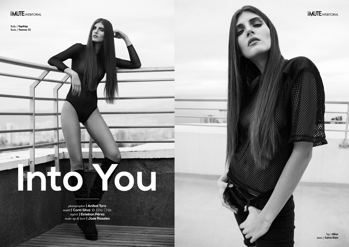 Into You webitorial for iMute Magazine Photographer / Anibal Toro Model / Conti Silva @ Elite Chile Stylist / Esteban Pérez Make up / Jose Rosales