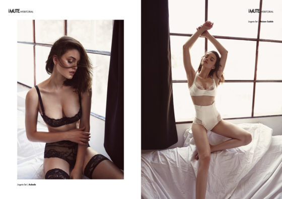 L'art de la seduction webitorial for iMute Magazine Photographer / George Pruteanu Model / Daria @ Mandarina Models Stylist / Silvia Cristescu Make up / Mihaela Cherciu Hair / Robert Both