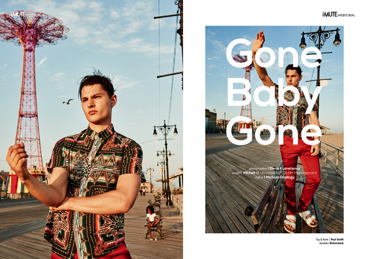 Gone Baby Gone webitorial for iMute Magazine Photographer / Elena Kuznetsova Model / Michell @ Umodels NYC & NY Management Stylist / Michael Stallings