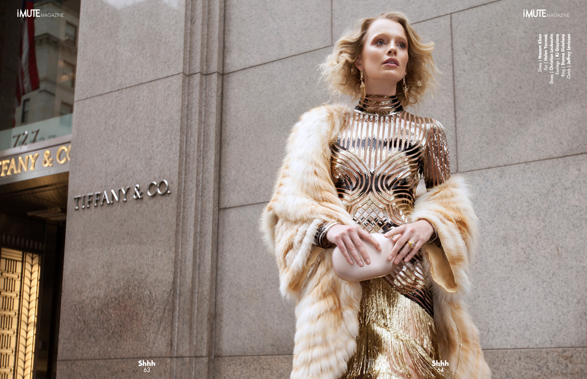 Rush Hour - iMute Magazine #16 | Fall Issue Photographer / Sveta Levina Model / Tereza Bouchalova @ Women / 360 Management Production / Pavel Denisenko Stylist / Marquis Bias Makeup / Yuui Vision Hair / Deborah Brider