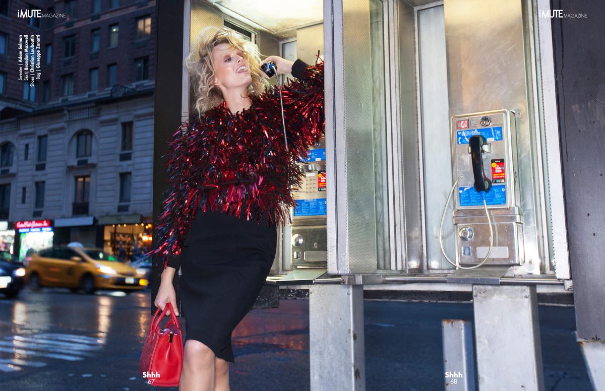 Rush Hour - iMute Magazine #16 | Fall Issue Photographer / Sveta Levina Model / Tereza Bouchalova @ Women / 360 Management Production / Pavel Denisenko Stylist / Marquis Bias Makeup / Yuui Vision Hair / Deborah Brider