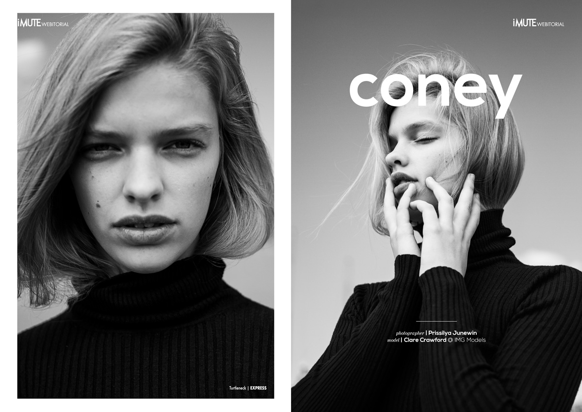 coney webitorial for iMute Magazine Photographer / Prissilya Junewin Model / Clare Crawford @ IMG Models