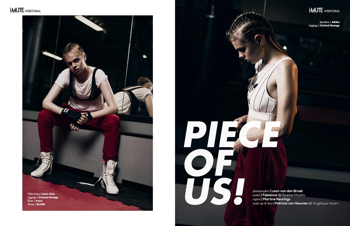 Piece of us webitorial for iMute Magazine Photographer / Leon van den Broek Model / Fabienne @ Touche Models Stylist / Martine Reurings Make up & Hair / Patricia van Heumen @ Angelique Hoorn Managemet
