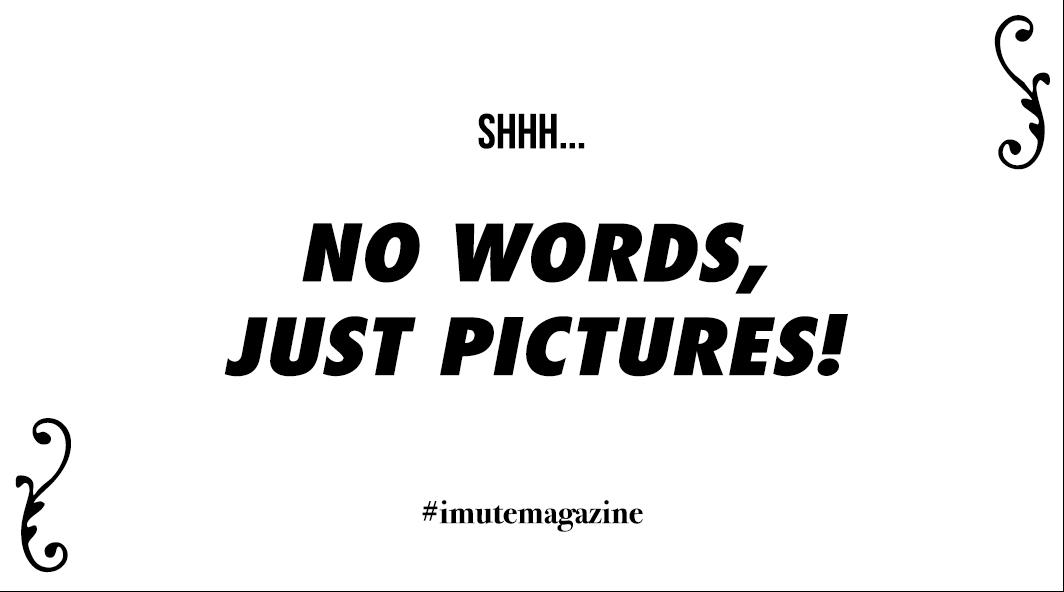 iMute Magazine card #nowordsjustpictures