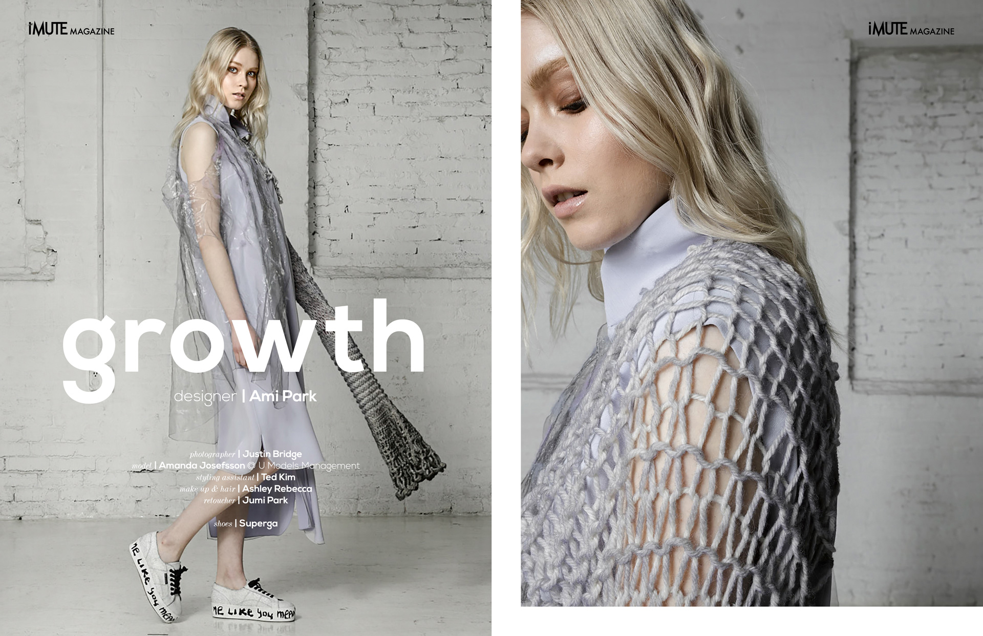 growth advertorial for iMute Magazine Designer | Ami Park Photographer | Justin Bridge Model | Amanda Josefsson @ U Models Management Styling Assistant | Ted Kim Make up & Hair | Ashley Rebecca Retoucher | Jumi Park