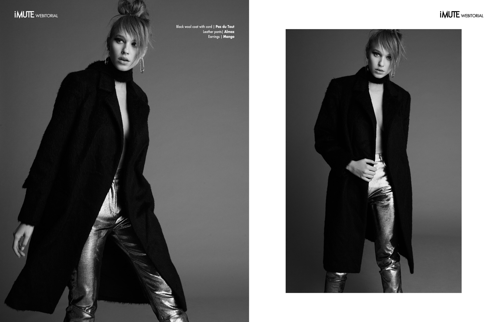 Gina webitorial for iMute Magazine Photographer | Mike Nicolaev Model | Gina Chirila @ Mandarina Models Stylist | Irina Hartia Make up | Alexandra Craescu Hair | Javier Vergara
