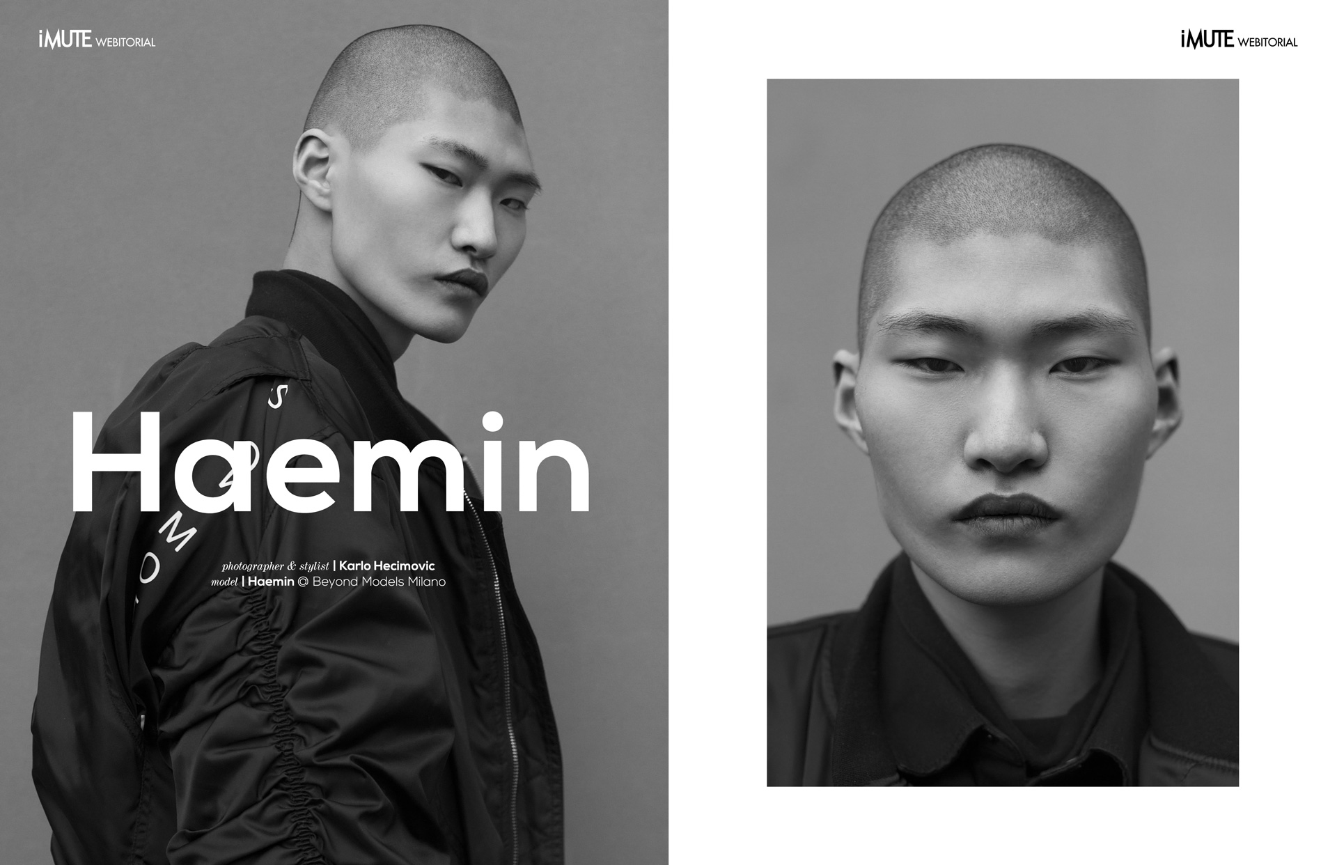 Haemin webitorial for iMute Magazine Photographer & Stylist | Karlo Hecimovic Model | Haemin @ Beyond Models Milano