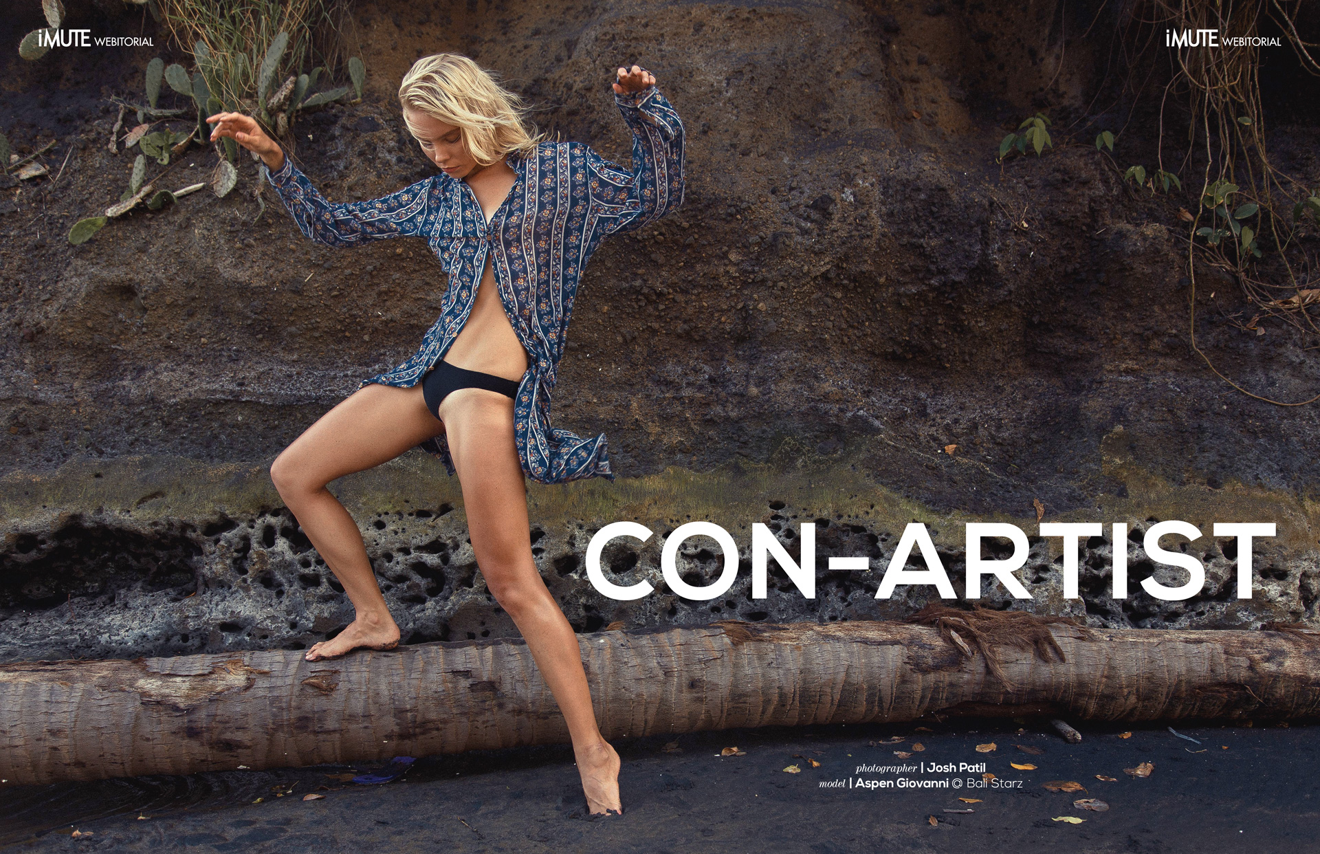 CON-ARTIST webitorial for iMute Magazine Photographer | Josh Patil Model | Aspen Giovanni @ Bali Starz
