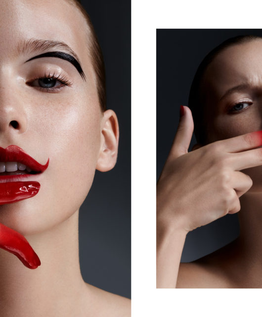 Red between the lines webitorial for iMute Magazine Photographer | Aleksander Salski Model | Marta Kowlaczyk @ Gaga Models Make up | Harry Jefferson