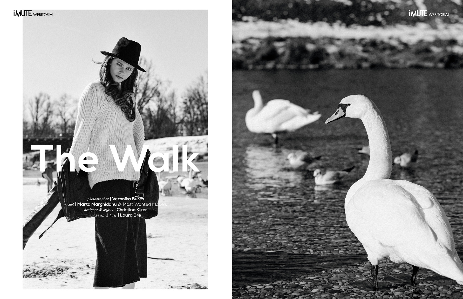 The Walk webitorial for iMute Magazine Photographer | Veronika Bures Model | Marta Marghidanu @ Most Wanted Models Desigenr & Stylist | Christina Kiker Make up & Hair | Laura Bre