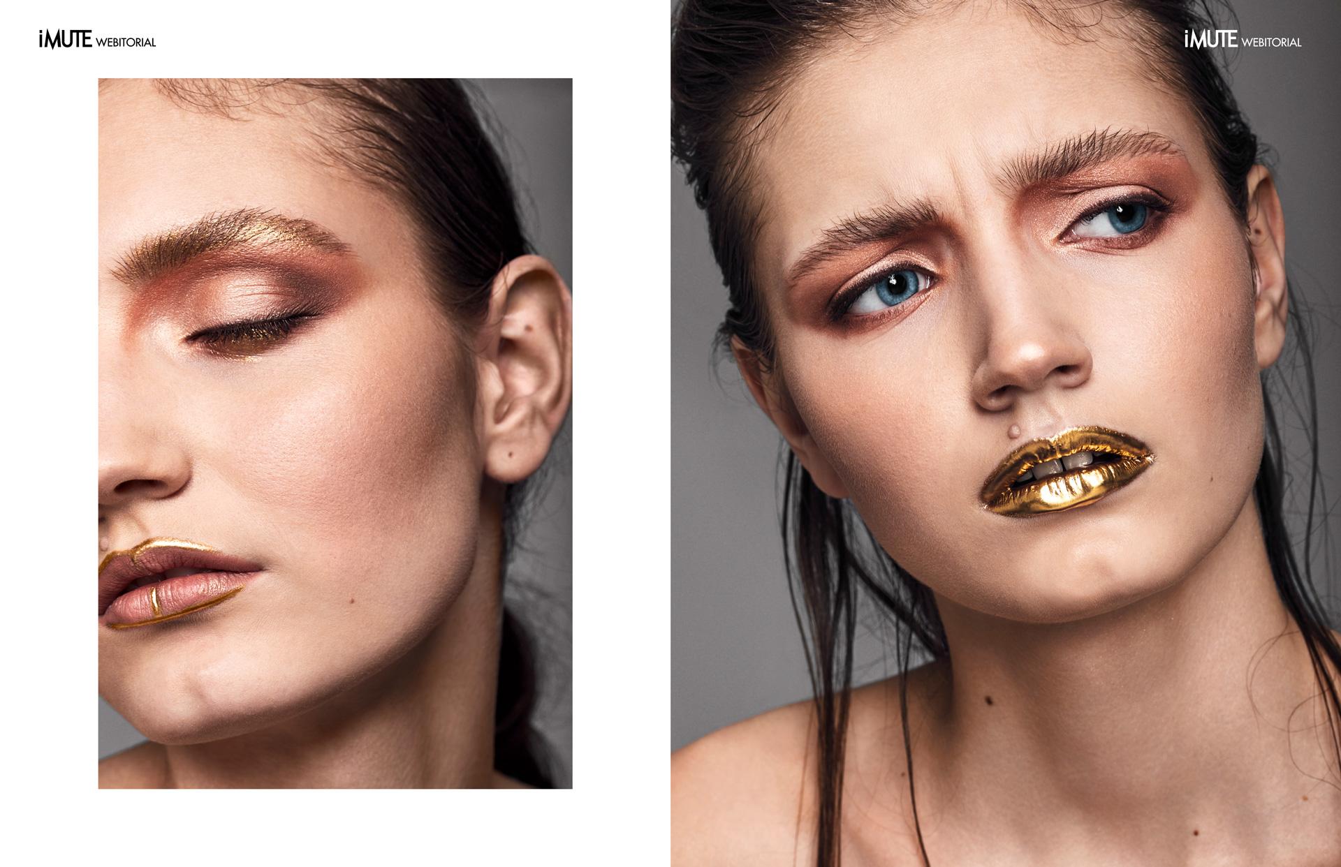 Gold Rush webitorial for iMute Magazine Photographer | Ivan Mihailov @ SALT Moldova Model | Maria Jumbei @ Mandarin Models Make up & Hair | Aliona Sweetface