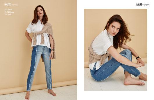Stella webitorial for iMute Magazine Photographer | Melinda Cartmer Model | Stella Daskalakis @ IMG Models Stylist | Orla Mollot Make up & Hair | Veronika Moreira @ oneninetynine management