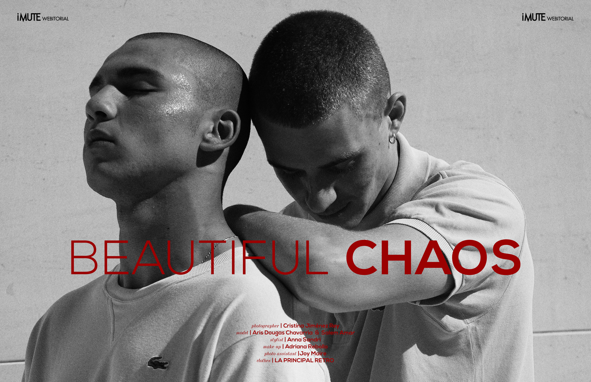 Beautiful chaos webitorial for iMute Magazine Photographer | Cristina Jiménez Rey Models | Aris Dougas Chavarria & Salem Amar Stylist | Anna Sandri Makeup & Hair | Adriana Rebollo Photo Assistant | Joy Maire Clothes | LA PRINCIPAL RETRO