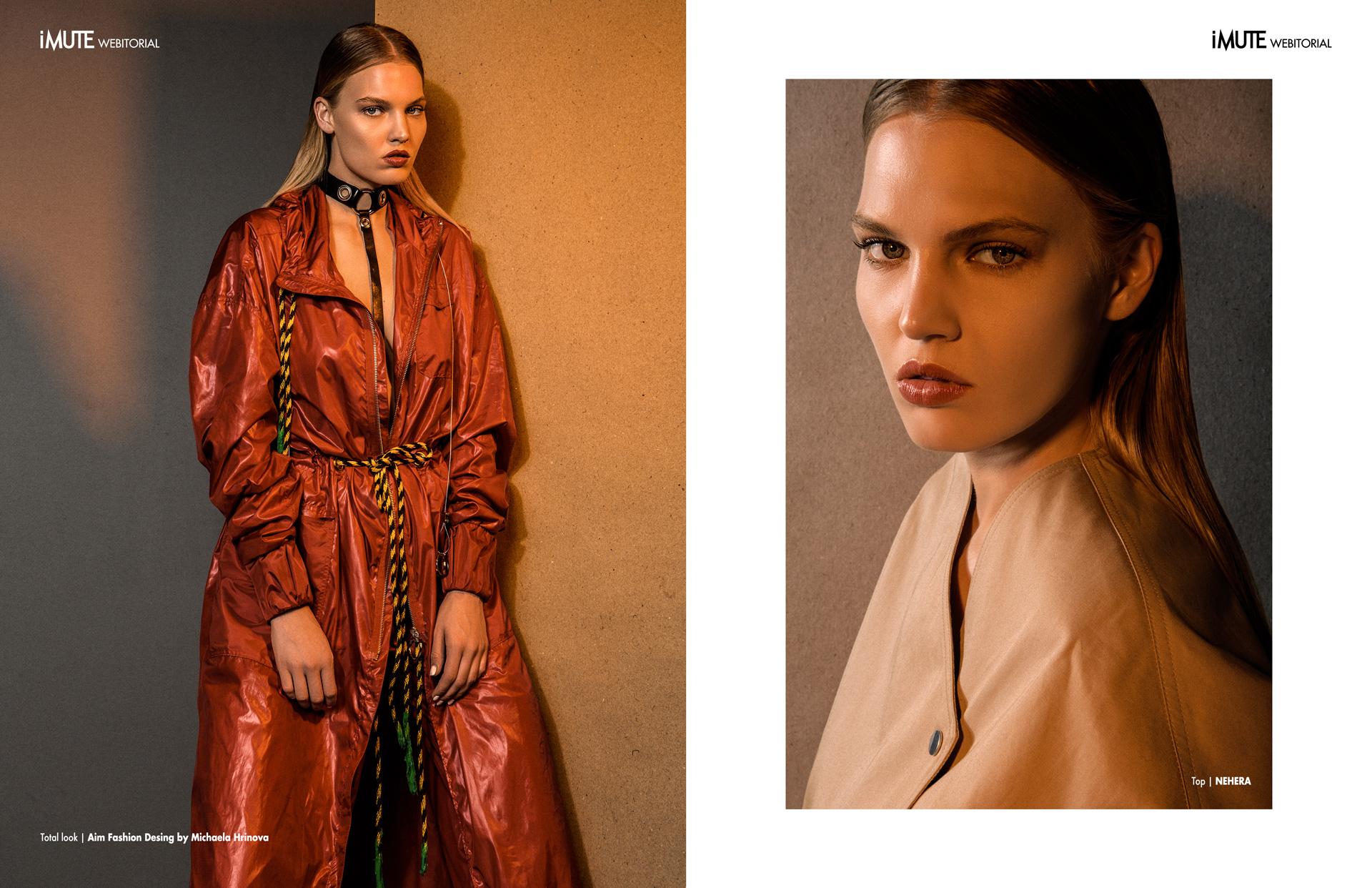 TEMPERATE webitorial for iMute Magazine Photographer | Tomas Thurzo Model | Kristina K. @ Exit Model Management Stylist | Dominika Svetikova Makeup & Hair | Alena Zahorska