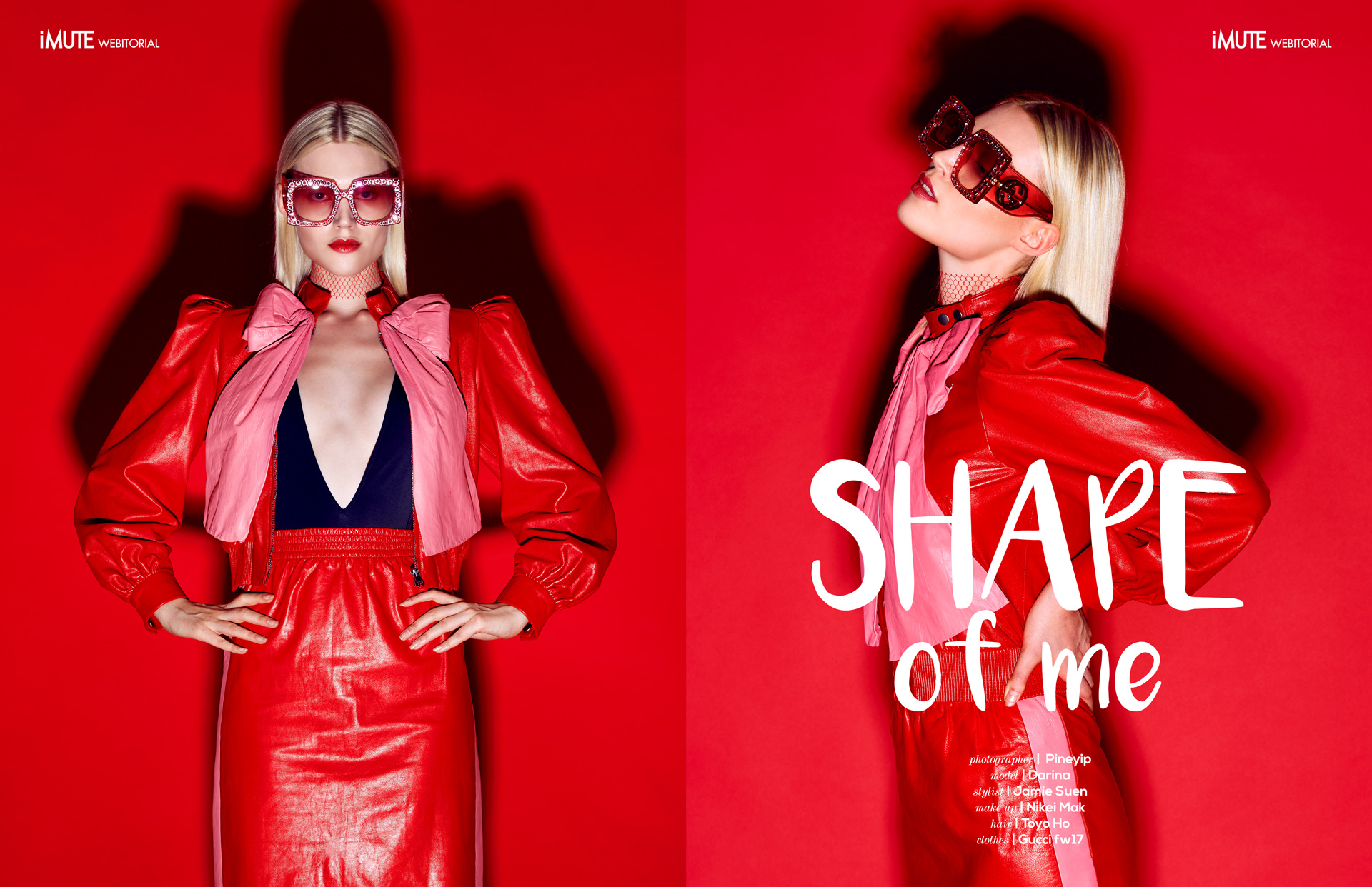 Shape of me webitorial for iMute Magazine Photographer | Pine Yip Model | Darina Stylist | Jamie Suen Makeup | Nikei Mak Hair | Toyo Ho Clothes | Gucci fw17