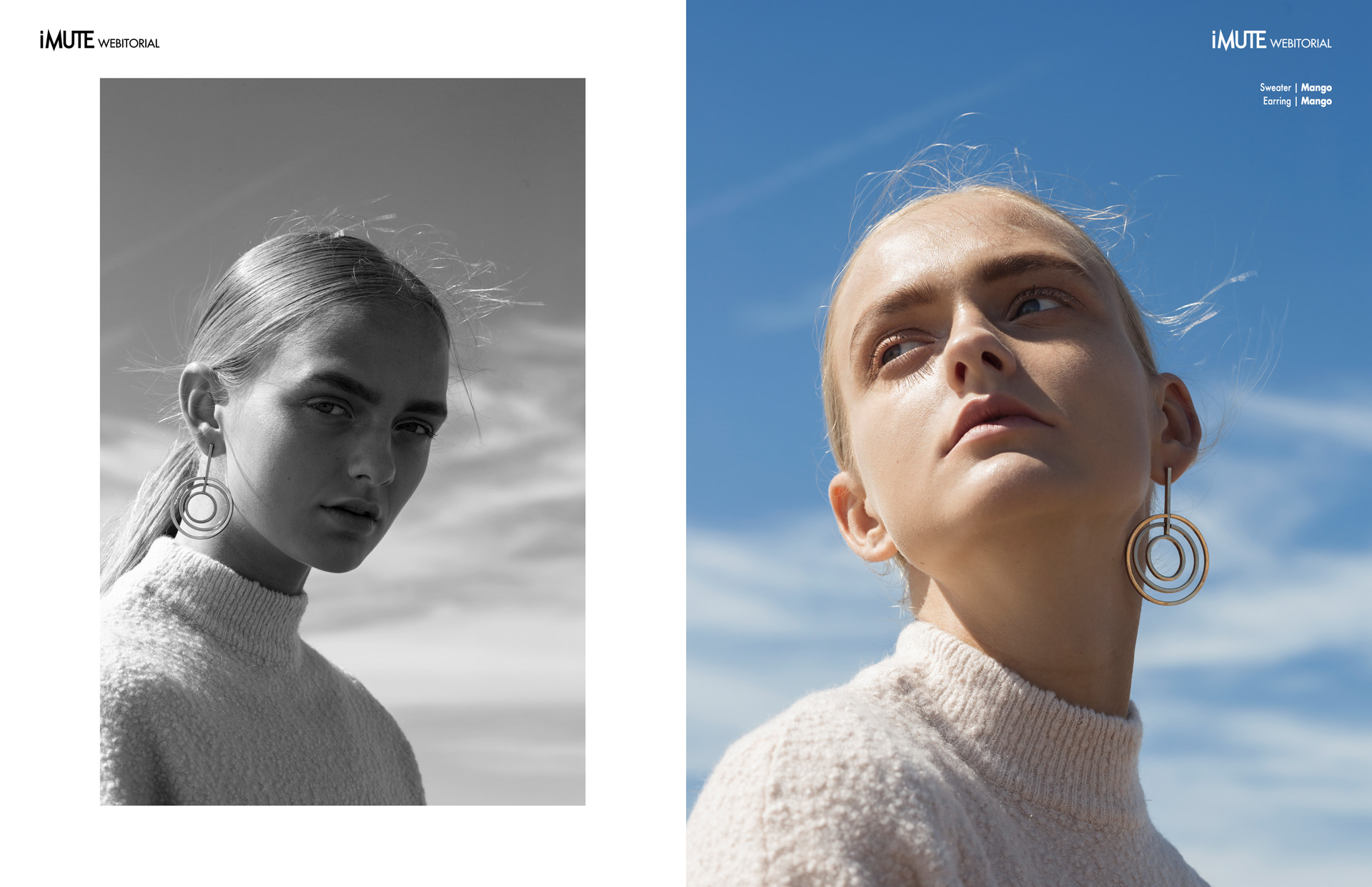 Blue Sky webitorial for iMute Magazine Photographer | Klaudia Molenda Model | Elynne Keizer @ De Boekers Stylist | Willeke Elisabeth Makeup & Hair | Fatima Ribeiro