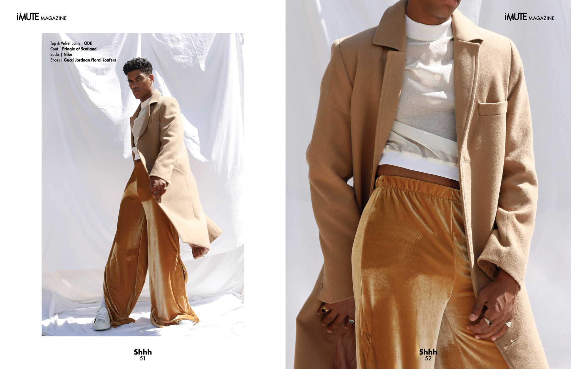 Coloured | Cover story iMute Magazine Fall Issue no 20 Photographer|Gemma Shepherd Model| Nicolas Van Graan @ 20 Management Stylists|Imran Mohamed & Rebecca Odendaal