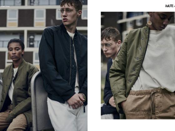 LONDON HABITS webitorial for iMute Magazine Photographer|Dan Knott Models| Roman @Premier London & Kiara @D1 Models Designer & Stylist|Chloe Cambridge Makeup|Quelle Maquilleur Hair|William Webb Clothes|Habits Studios