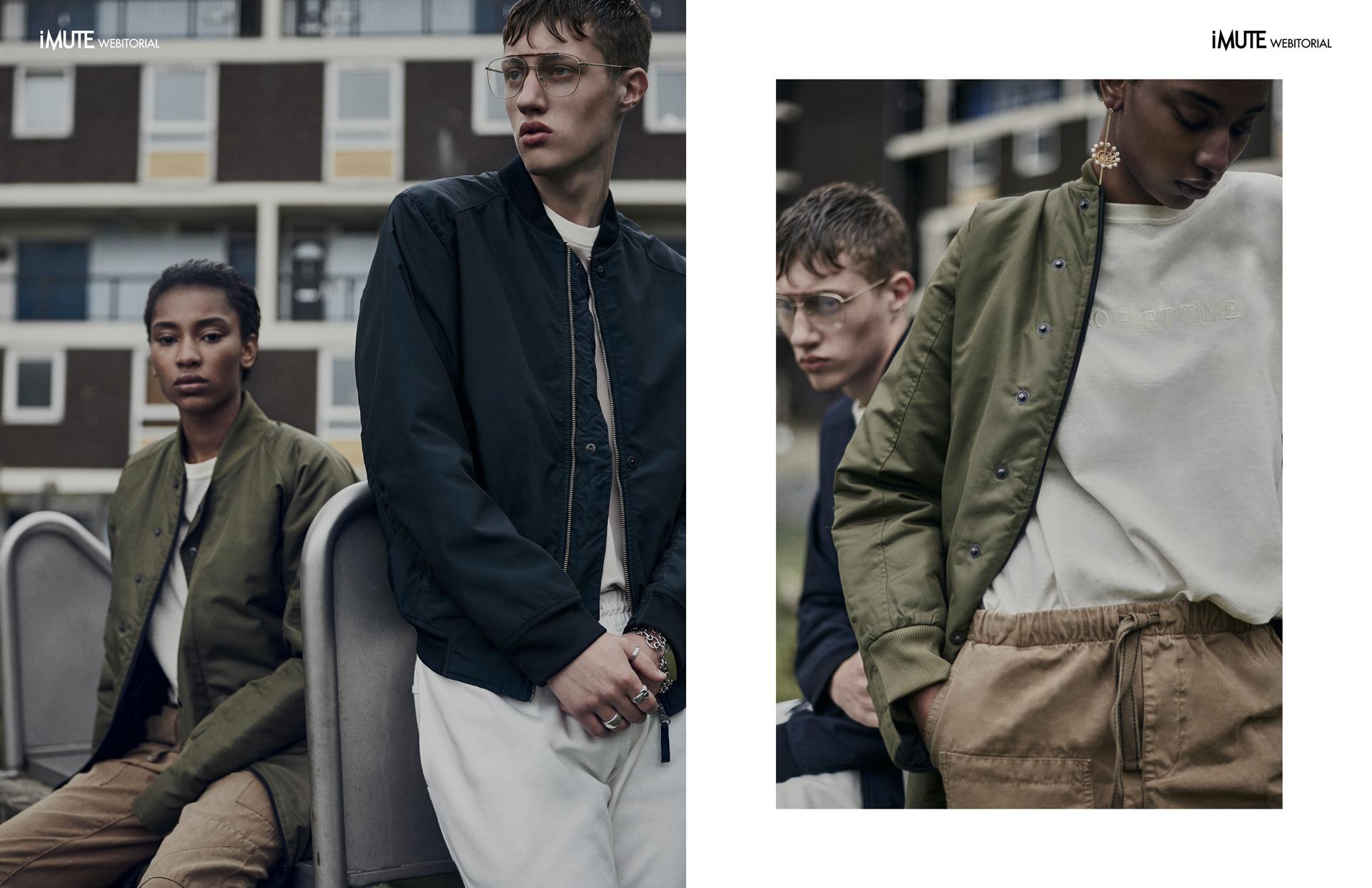 LONDON HABITS webitorial for iMute Magazine Photographer Dan Knott Models  Roman @Premier London & Kiara @D1 Models Designer & Stylist Chloe Cambridge Makeup Quelle Maquilleur Hair William Webb Clothes Habits Studios