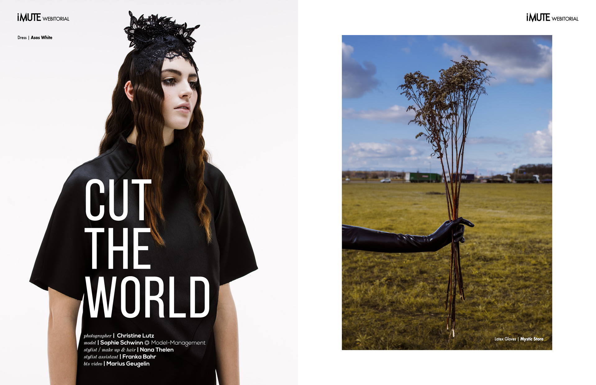 CUT THE WORLD webitorial for iMute Magazine Photographer | Christine Lutz Model | Sophie Schwinn @ Model-management Stylist / Makeup & Hair | Nana Thelen Stylist Assistant | Franka Bahr Bts Video | Marius Geugelin