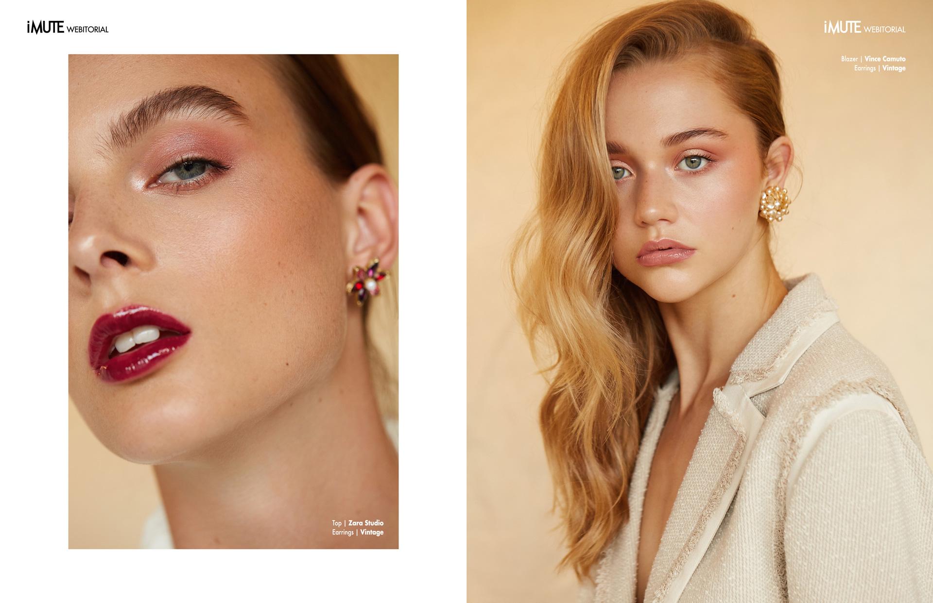 MODERN CLASSICS webitorial for iMute Magazine Photographer|Chantelle Kemkemian Models| Charlotte Mullan & Ayla Peterson @Chadwick Models Stylist| Fatima L Clinton Makeup|Brea Mulder