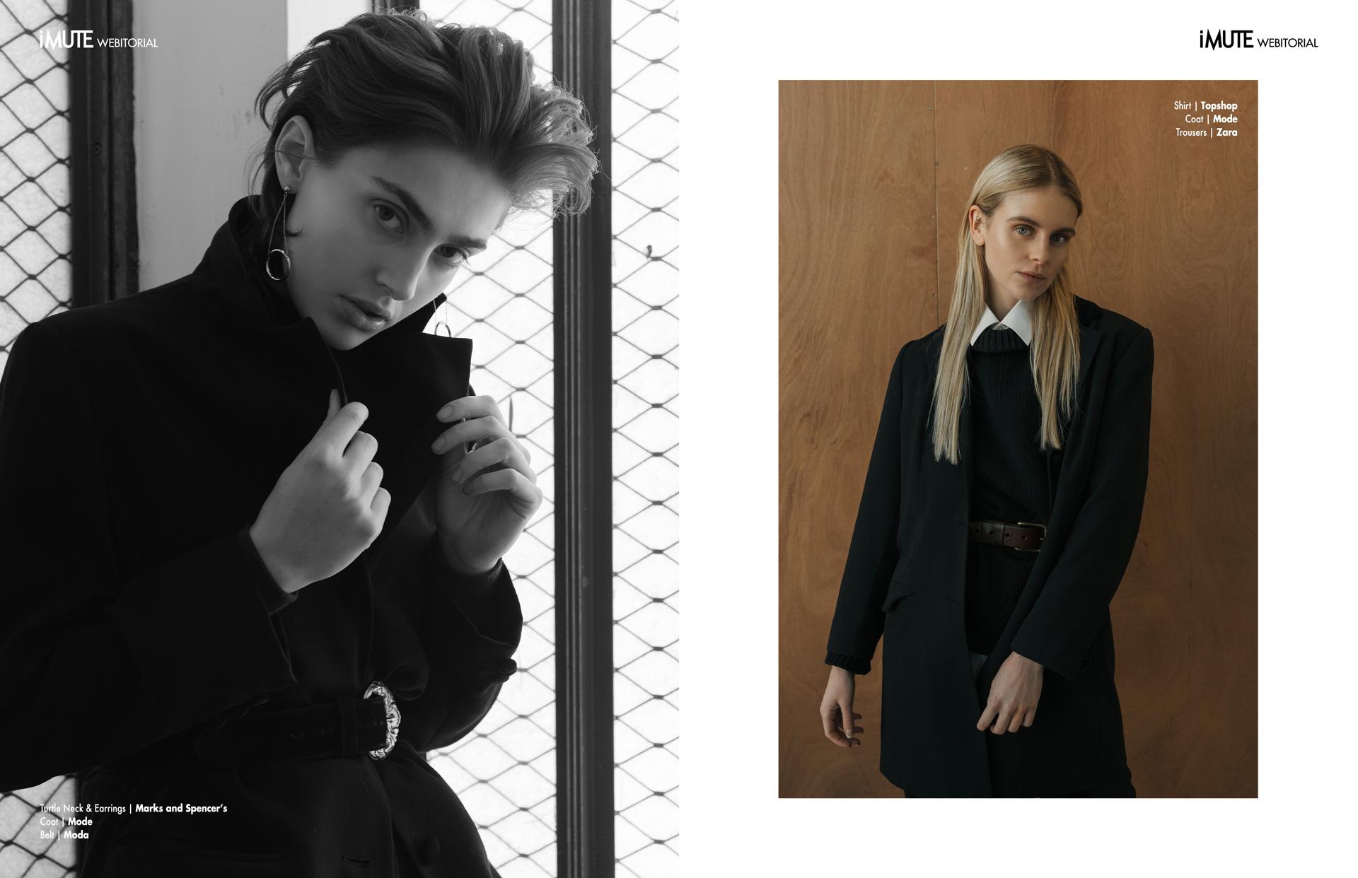 Sisterhood webitorial for iMute Magazine Photographer|Ashton Fernihough Models| Merran & Ella @Boss Model Management Stylist & Makeup|Kirsten Williams Lee