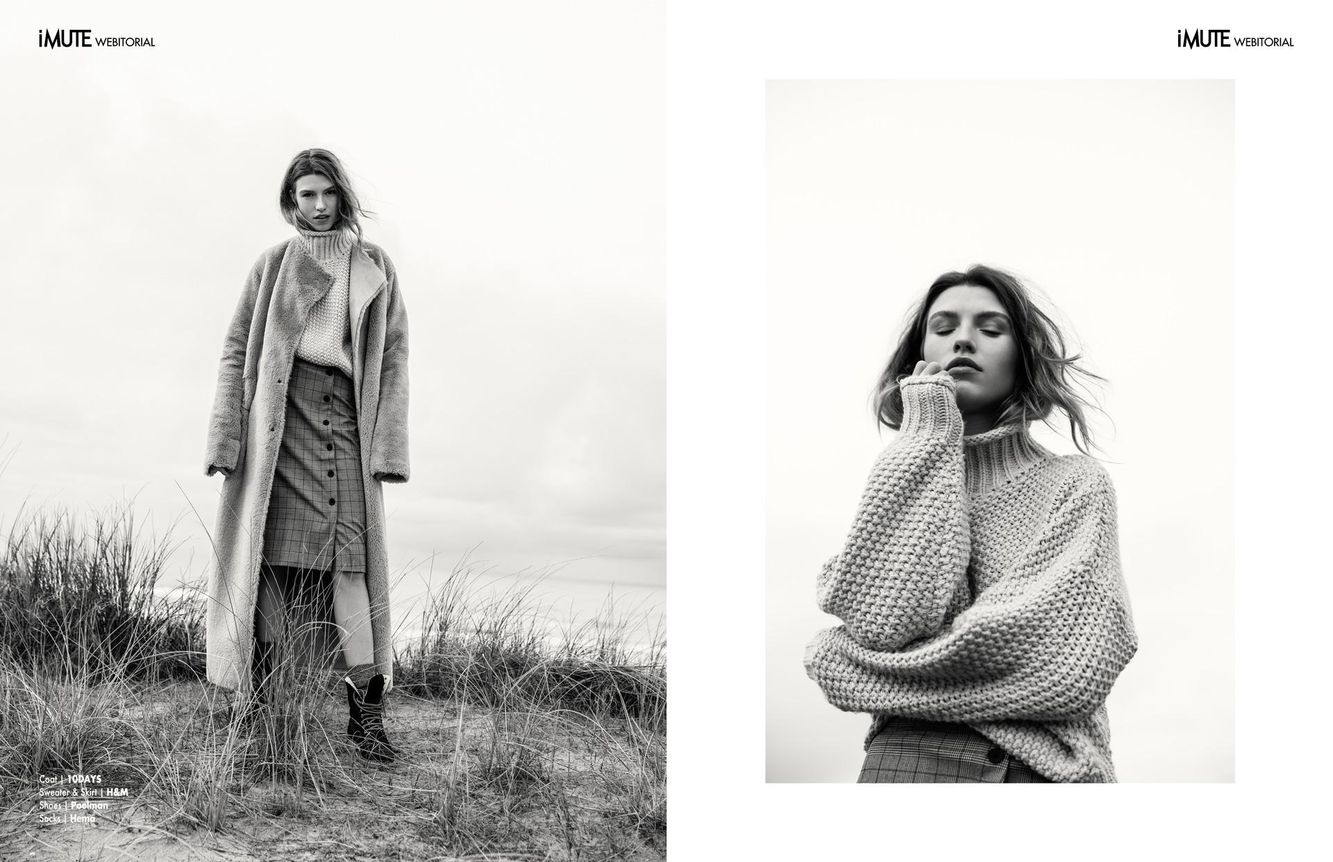 Sea me webitorial for iMute Magazine Photographer|Jaap Strijker Model| Eva Korsten @De Boekers Stylist|Ilse Elkerbout Makeup & Hair|Mimi Stobbe