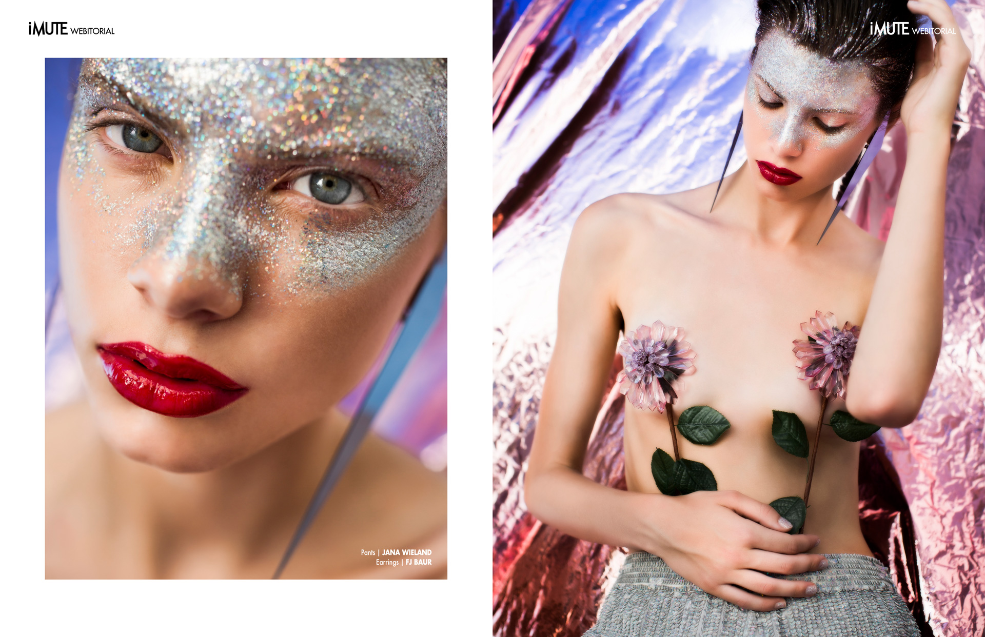 Silver Lining webitorial for iMute Magazine Photographer|Mia Feliné Model| Ema B. @Exit Model Management Stylist|Julia Philippitsch Makeup & Hair|Anna Winkelmeier
