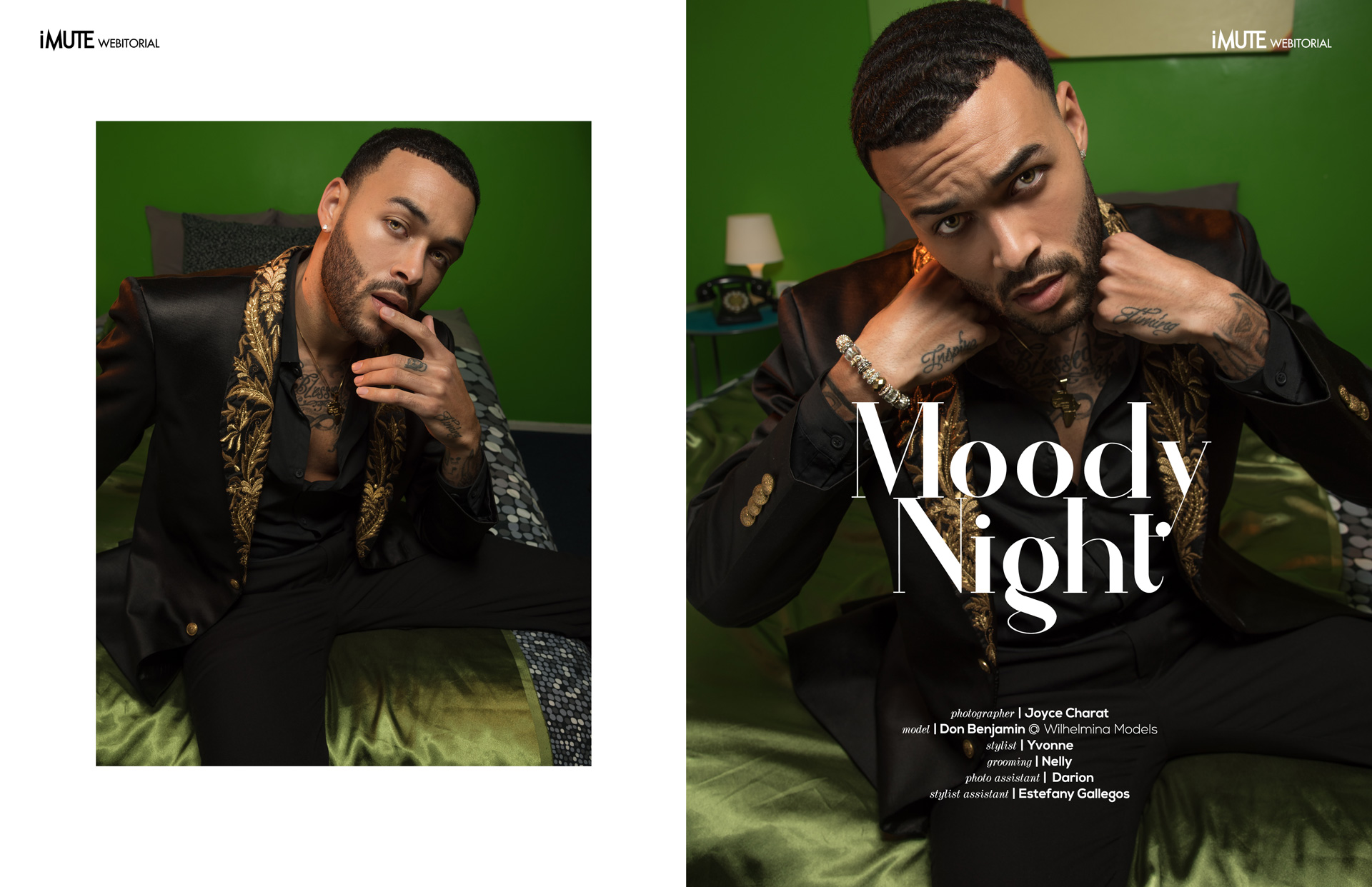 Moody Night webitorial for iMute Magazine Photographer | Joyce Charat Model | Don Benjamin @ Wilhelmina Models Stylist | Yvonne Grooming | Nelly Photo Assistant | Darion Stylist Assistant | Estefany Gallegos