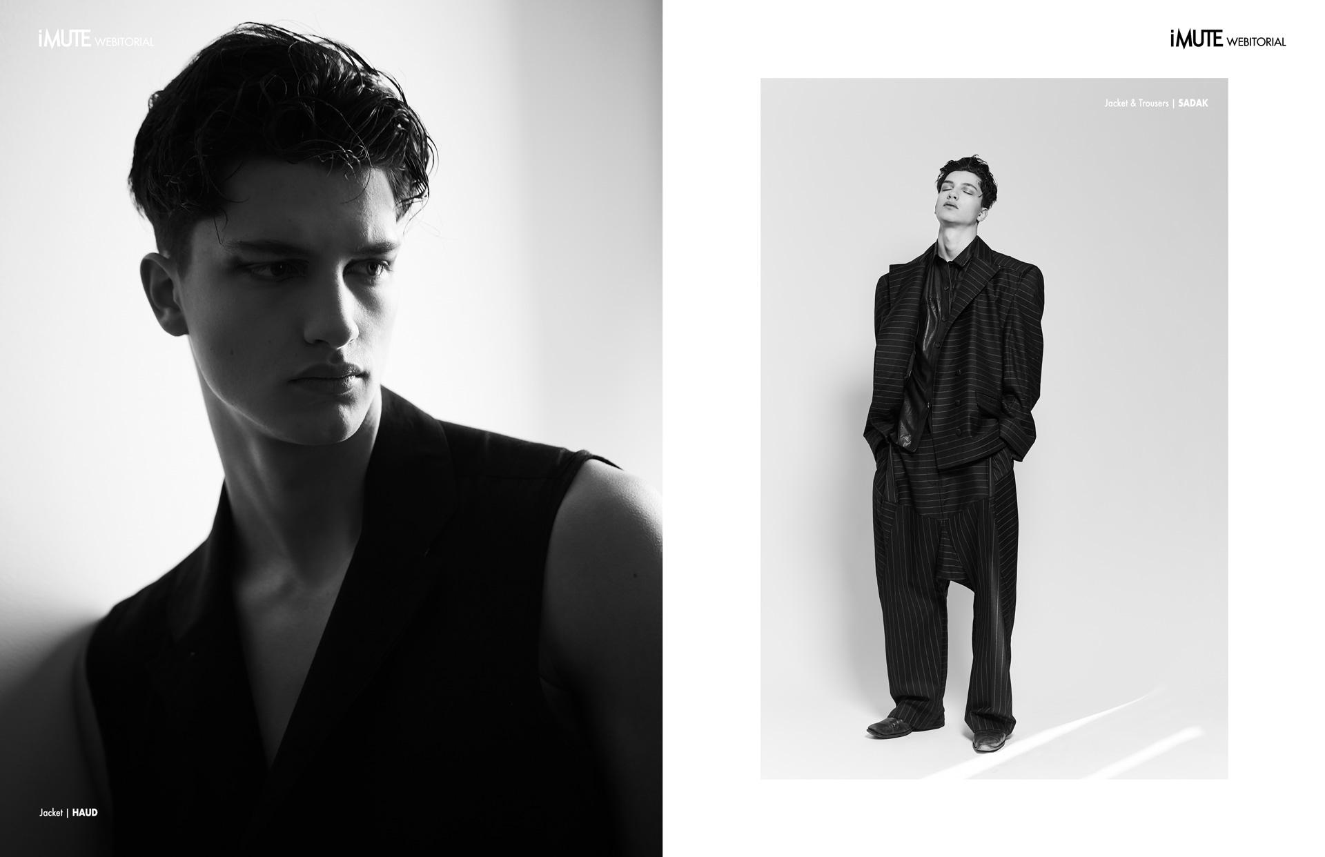 ROMAIN webitorial for iMute Magazine4 Photographer | Anaïs Novembre Model | ROMAIN HAMDOUS @ 16MEN Stylist | Marie Revelut Makeup & Hair | YANGSUN SEO