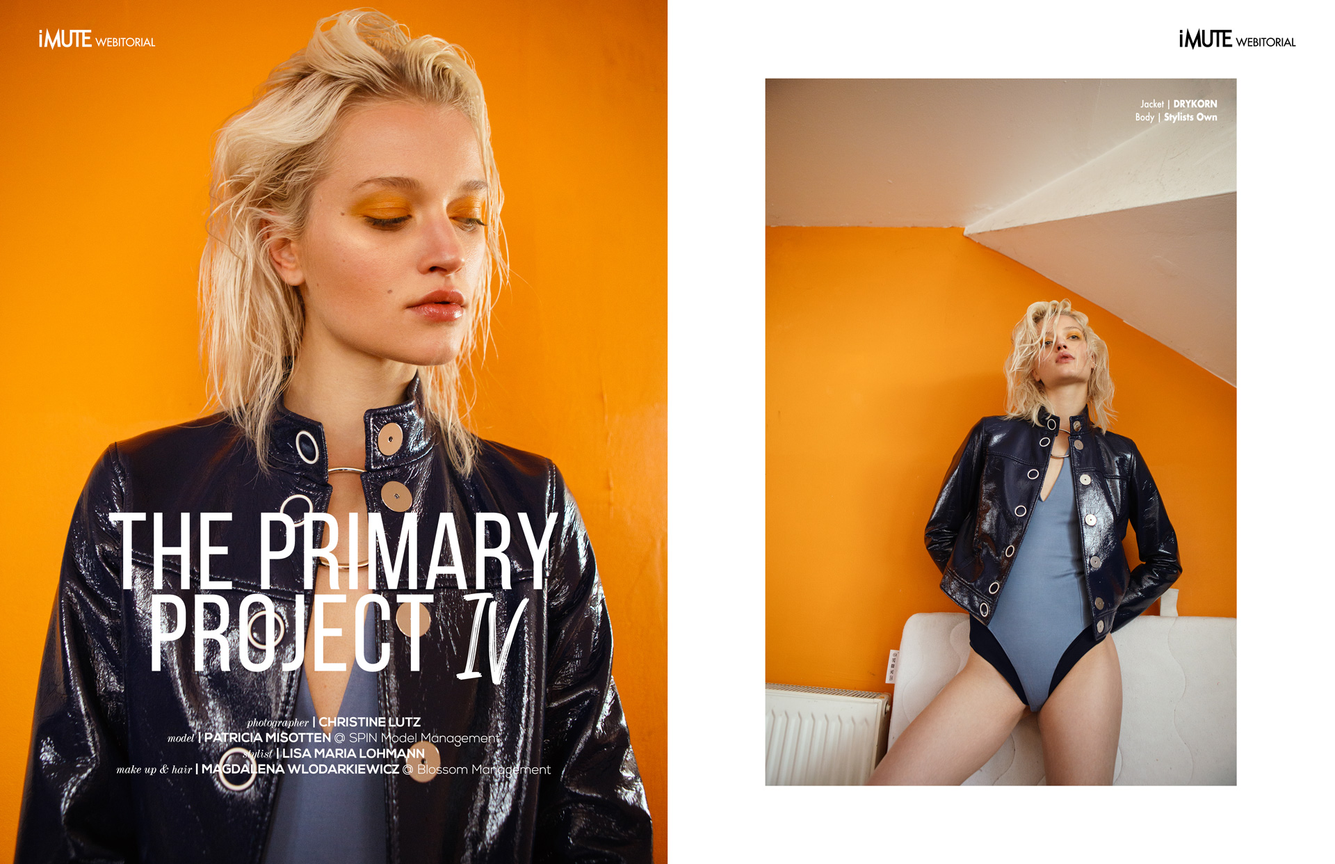 THE PRIMARY PROJECT IV webitorial for iMute Magazine Photographer|CHRISTINE LUTZ Model| PATRICIA MISOTTEN @SPIN Model Management Stylist|LISA MARIA LOHMANN Makeup & Hair|MAGDALENA WLODARKIEWICZ @ Blossom Management