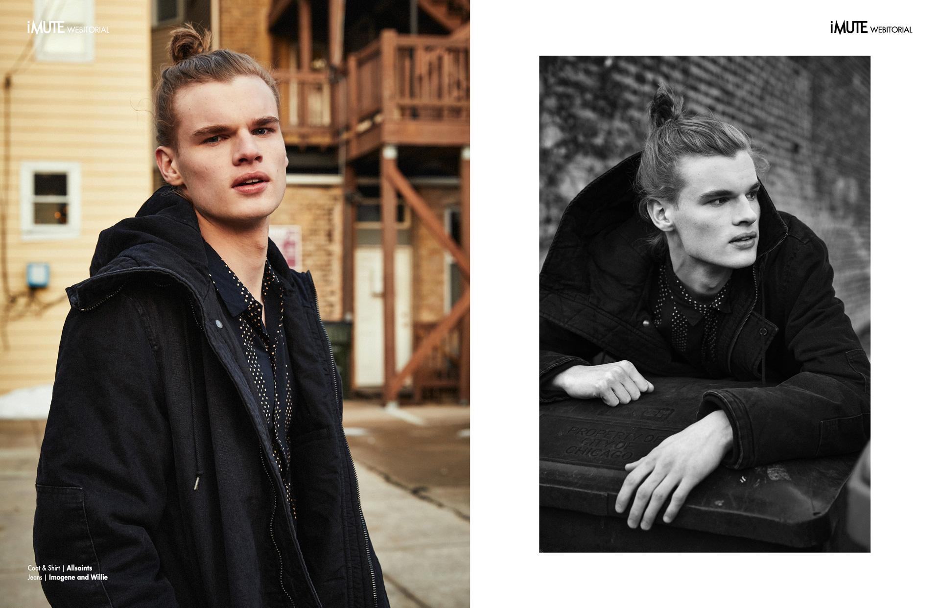 Trevor webitorial for iMute Magazine5 Photographer | Evan Perigo Model | Trevor Haag @ MP Management Chicago Stylist | Emily Kozik Makeup & Hair | Jennifer Gerstner