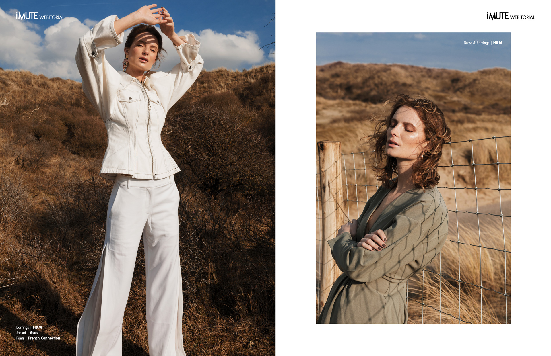 Underneath the blue sky webitorial for iMute Magazine Photographer | Klaudia Molenda Model | Ellis Brakenhoff @ Elite Models Stylist | Mitra Goelela Makeup & Hair | Ellen van Berkel