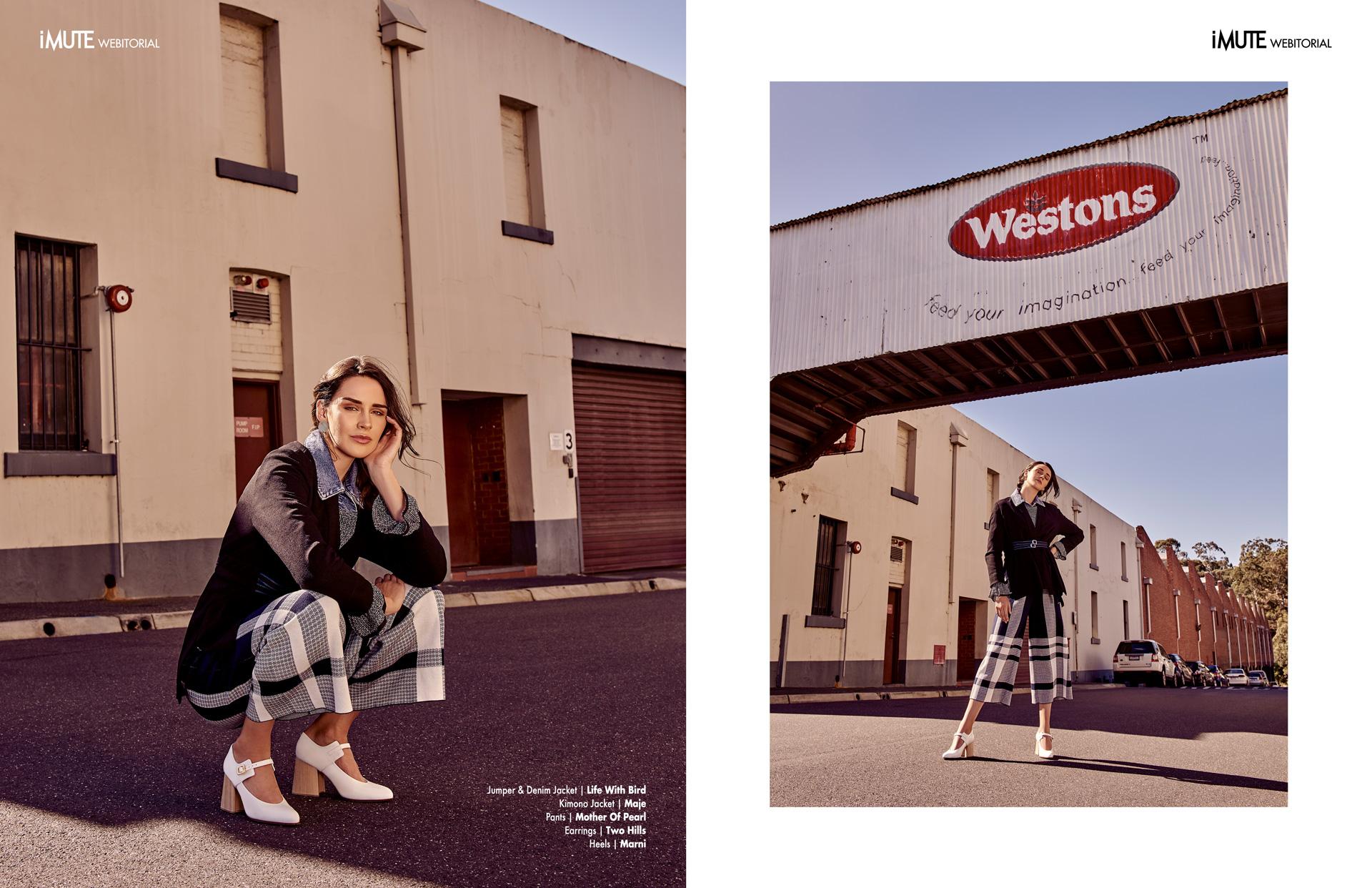 Cassie webitorial for iMute Magazine Photographer | Jessica Apap Model | Cassie Hancock @ Vivien's Model Management Stylist | Meggy Smith Makeup & Hair | Megan Everett Photo Assistant | Sarah Tee