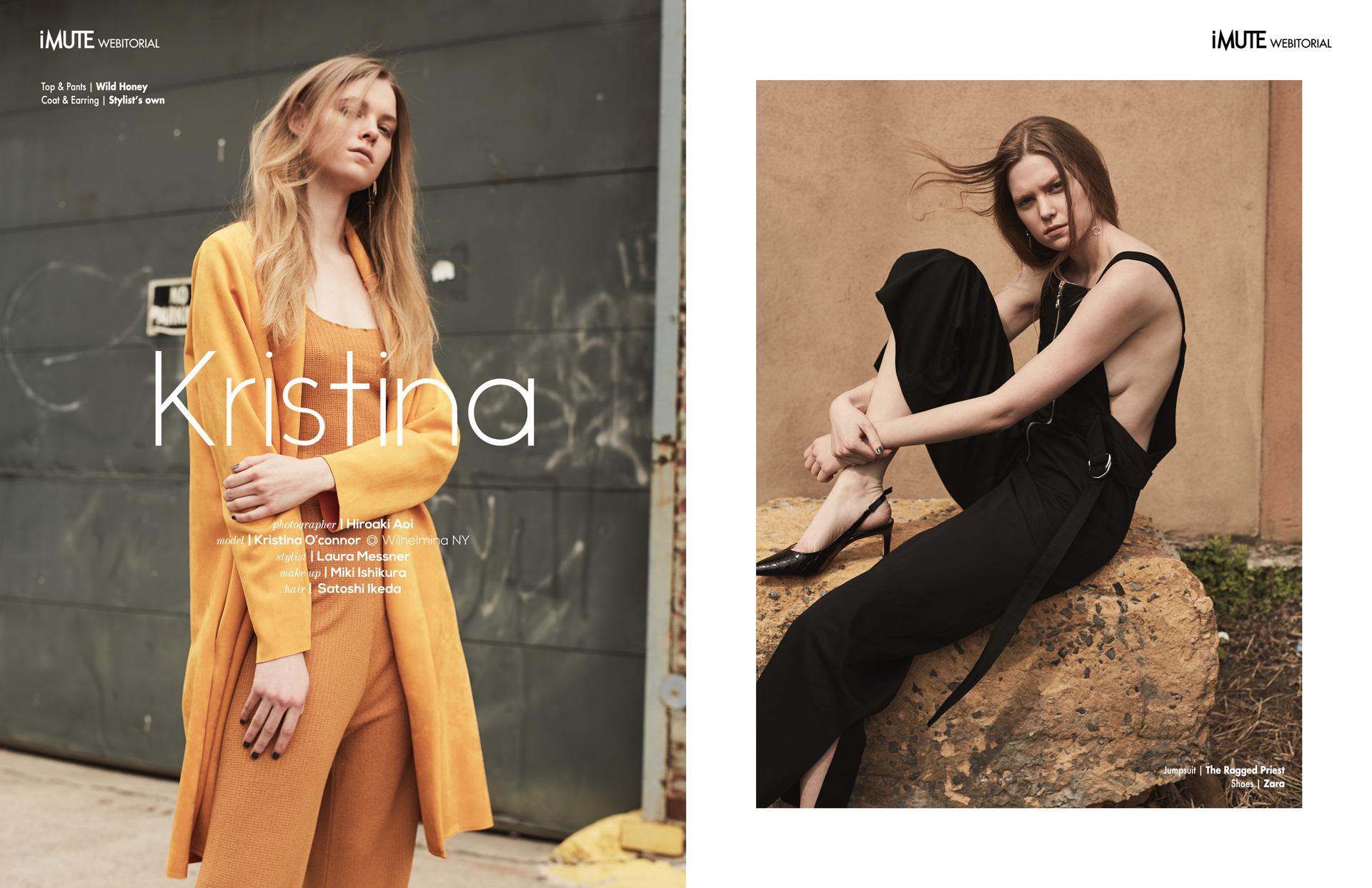 Kristina webitorial for iMute Magazine Photographer | Hiroaki Aoi Model | Kristina O'connor @ Wilhelmina NY Stylist | Laura Messner Makeup | Miki Ishikura Hair | Satoshi Ikeda